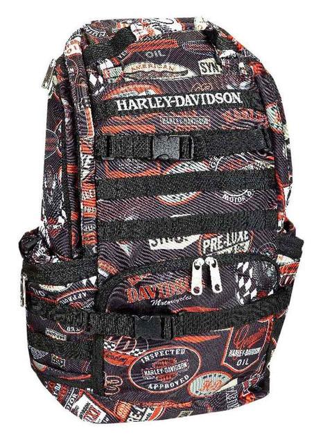 Harley-Davidson Night Ops Stellar Backpack, Black 99214-VINTAGE - Wisconsin Harley-Davidson