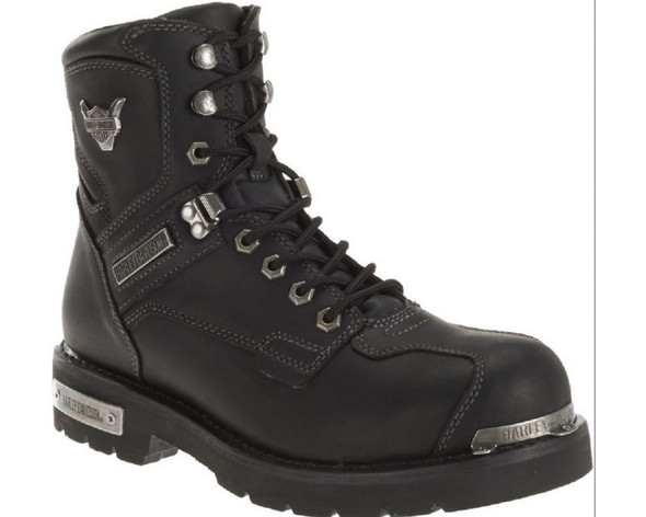 Harley-Davidson Men's Baker Black Leather Performance Motorcycle Boots. D96083 - Wisconsin Harley-Davidson