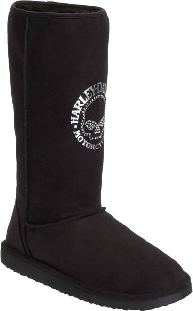 Harley-Davidson Women's Jamie 11.25-Inch Black Warm-Up Boots. D83799 - Wisconsin Harley-Davidson