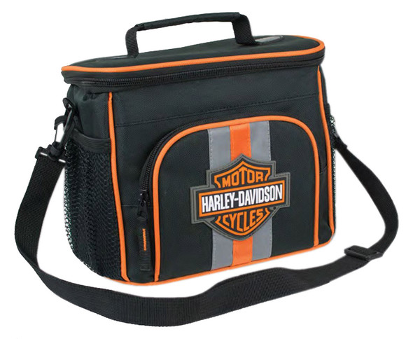Harley-Davidson Bar & Shield Insulated Lunch Tote, Shoulder Strap, Black 7180537 - Wisconsin Harley-Davidson