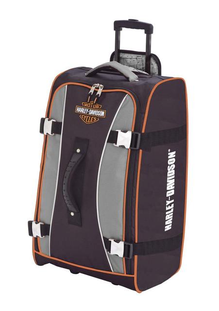Harley-Davidson Hybrid Luggage 29'' Casual Upright Suitcase, Gray/Black 99630-GB - Wisconsin Harley-Davidson