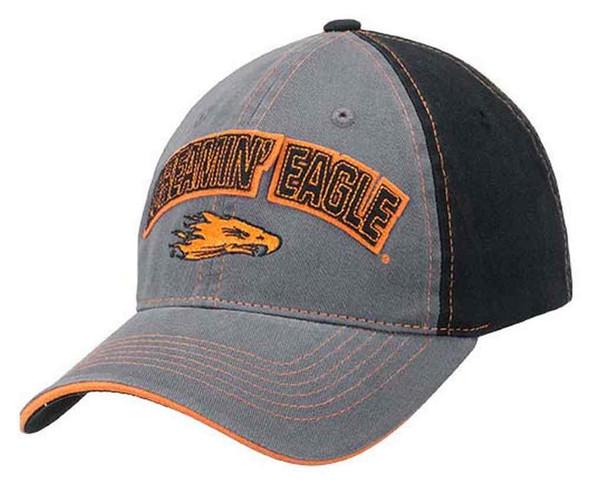 Harley-Davidson Men's Screamin' Eagle Felt Text Baseball Cap, Gray HARLMH0273 - Wisconsin Harley-Davidson