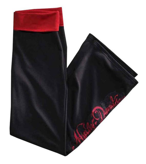Harley-Davidson Women's Foil Print Graphic Lounge Pants, Black 97853-16VW - Wisconsin Harley-Davidson
