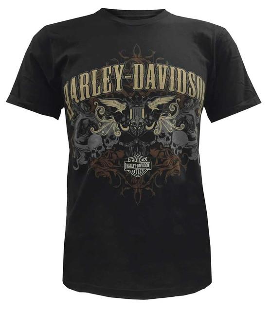 Harley-Davidson Men's Short Sleeve Lightweight Tee, Skull Motorcycle Graphic - Wisconsin Harley-Davidson