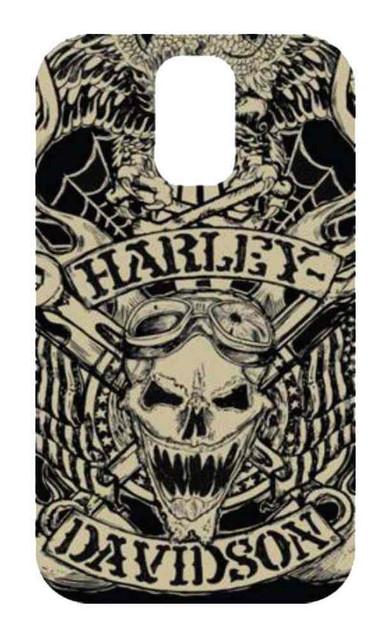 Harley-Davidson Men's Samsung Galaxy S5 Tattoo Edgy Skull Phone Shell 7728 - Wisconsin Harley-Davidson
