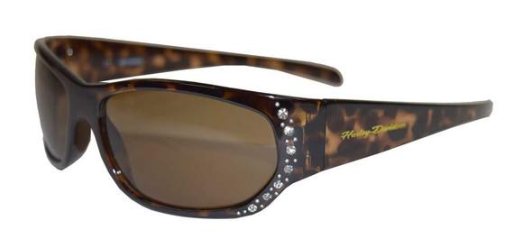 Harley-Davidson Women's Sunglasses, Embellished Brown Frame & Lens HDS5024-TO-1 - Wisconsin Harley-Davidson