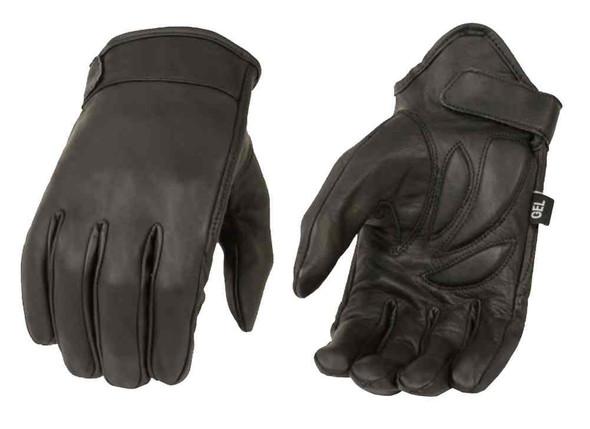 Milwaukee Leather Men's Premium Leather Short Wrist Cruiser Gloves, Black MG7510 - Wisconsin Harley-Davidson