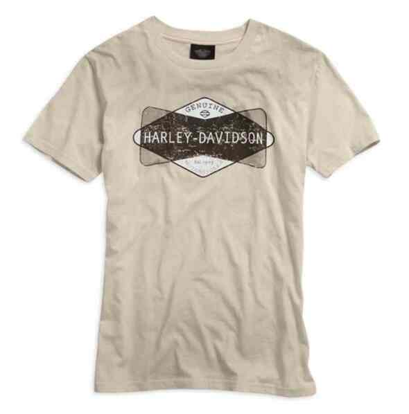 Harley-Davidson Men's Genuine H-D Graphic Short Sleeve Tee, Stone 96010-15VM - Wisconsin Harley-Davidson