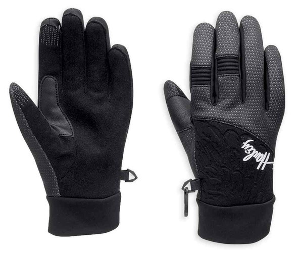 Harley-Davidson Women's Trench Waterproof Neoprene Gloves, Black. 98200-16VW - Wisconsin Harley-Davidson