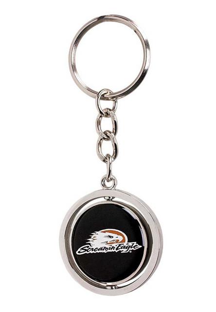 Harley-Davidson Screamin' Eagle Spinner Logos Key Chain, Silver HARLNV008600 - Wisconsin Harley-Davidson