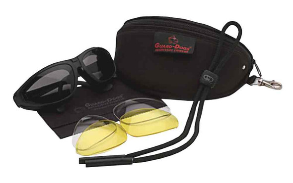 Guard-Dogs Sidecars II Motorcycle Glasses, Interchangeable 3 Lens Kit, 131-90-01 - Wisconsin Harley-Davidson