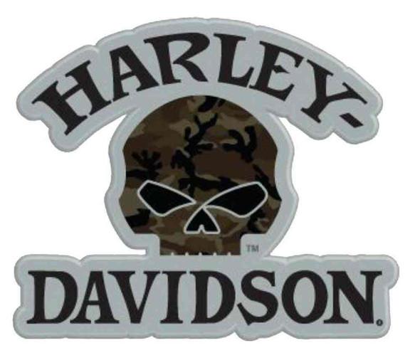 Harley-Davidson Camouflage Willie G Skull Logo Pin, 1.5 x 1.25 inch 181129 - Wisconsin Harley-Davidson
