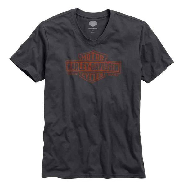 Harley-Davidson Men's Black Label Core Trademark Logo V-Neck Tee 99042-16VM - Wisconsin Harley-Davidson