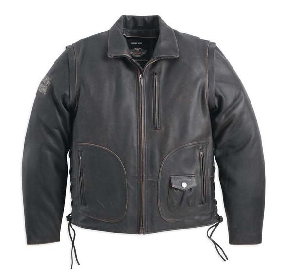 Harley-Davidson Men's Panhead II Leather Jacket Black 98023-12VM - Wisconsin Harley-Davidson