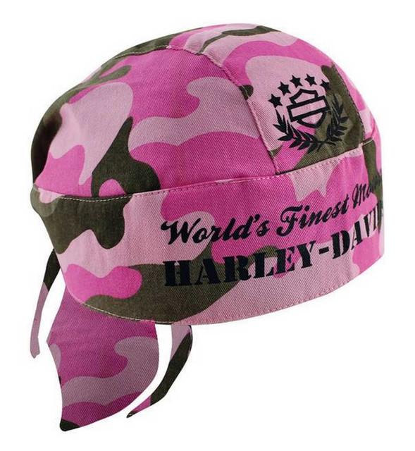 Harley-Davidson Women's H-D Head Wrap Pink Camouflage HW02207 - Wisconsin Harley-Davidson