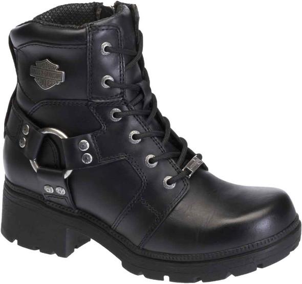 Harley-Davidson Women's Jocelyn 5.5-In Black Leather Motorcycle Boots. D83775 - Wisconsin Harley-Davidson