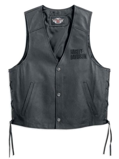 Harley-Davidson Men's Traditional Leather Vest 98007-11VM - Wisconsin Harley-Davidson