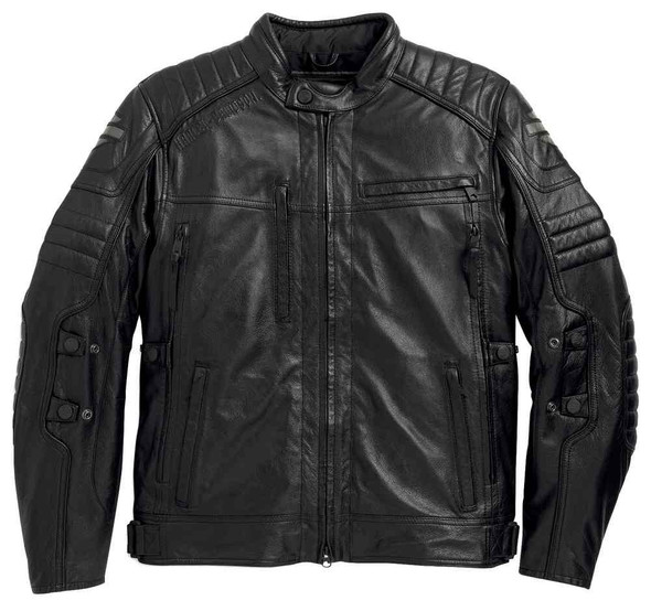 Harley-Davidson Men's Waterproof Donoghue Leather Jacket, Black 97104-16VM - Wisconsin Harley-Davidson