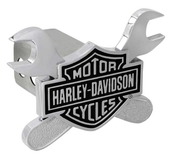 Harley-Davidson 3D Bar & Shield Cross Wrenches Trailer Hitch Cover, 2 in HDHC276 - Wisconsin Harley-Davidson