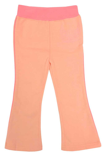Harley-Davidson Little Girls' Glittery Script Fleece Yoga Pants, Pink 4021738 - Wisconsin Harley-Davidson
