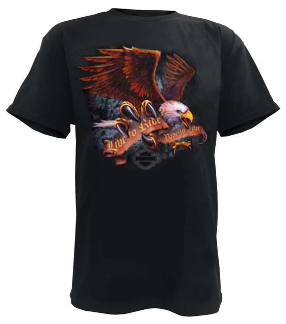 Harley-Davidson Men's Eagle T-Shirt Talon Short Sleeve Tee, Black - Wisconsin Harley-Davidson
