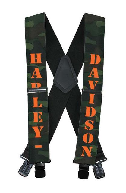 Harley-Davidson H-D Name Camouflage Suspenders, 42 Inch SUS022253 - Wisconsin Harley-Davidson