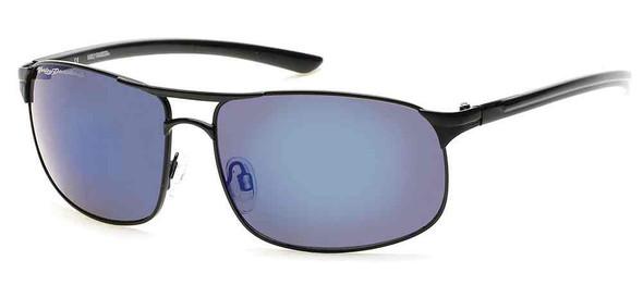 Harley-Davidson Men's Metal H-D Sunglasses, Black Frames & Blue Mirror Lens - Wisconsin Harley-Davidson