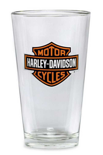 Harley-Davidson Bar & Shield Logo Pint Glass 16 oz, Barware Glassware 99307-13V - Wisconsin Harley-Davidson