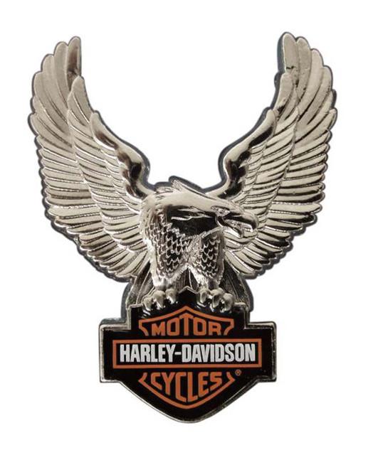 Harley-Davidson Silver Upwing Eagle Bar & Shield Pin P328064 - Wisconsin Harley-Davidson