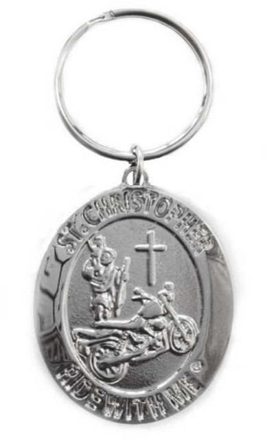 St. Christopher Ride with Me Motorcycle Medal Keychain BH010 - Wisconsin Harley-Davidson