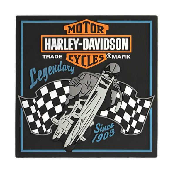 Harley-Davidson Magnet, Legendary Racer Bar & Shield Rubber Tile Magnet 8003173 - Wisconsin Harley-Davidson