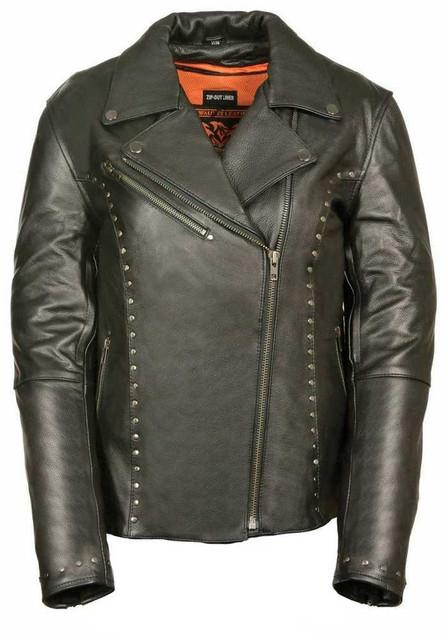 Milwaukee Leather Women's Classic M/C Jacket  w/ Rivet Detailing ML1948 - Wisconsin Harley-Davidson