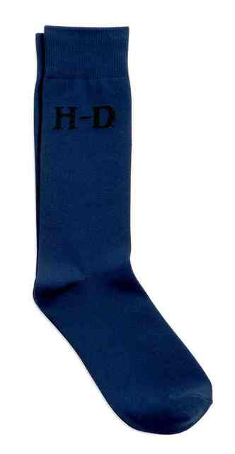 Harley-Davidson Men's H-D Trouser Sock, Microfiber Dress Navy. 99402-16VM - Wisconsin Harley-Davidson