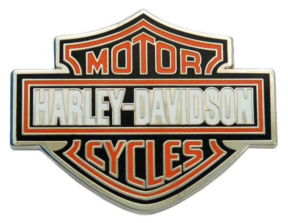 Harley-Davidson Classic Bar & Shield Logo Pin, Orange Logo, 1 x 1.5 inch 112230 - Wisconsin Harley-Davidson