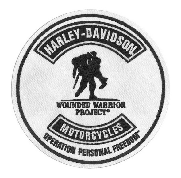 Harley-Davidson Wounded Warrior Project Embroidered Patch, 5 x 5 Inch EMWWP2 - Wisconsin Harley-Davidson