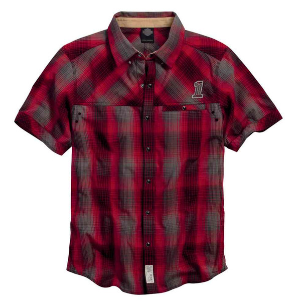 Harley-Davidson Men's Black Label Core #1 Skull Plaid Woven Shirt 99057-16VM - Wisconsin Harley-Davidson