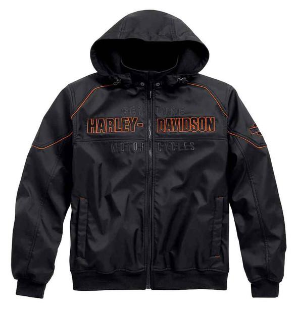 Harley-Davidson Men's Idyll Performance Soft Shell Jacket, Black. 98555-15VM - Wisconsin Harley-Davidson