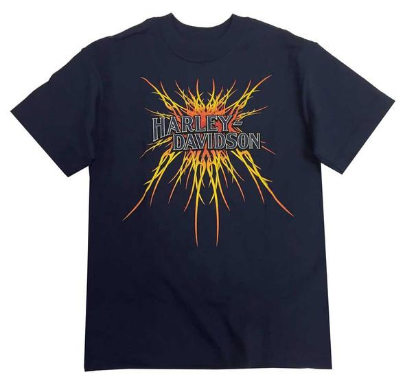 Harley-Davidson Big Boys' H-D Script Logo Burst Youth T-Shirt, Navy Blue - Wisconsin Harley-Davidson