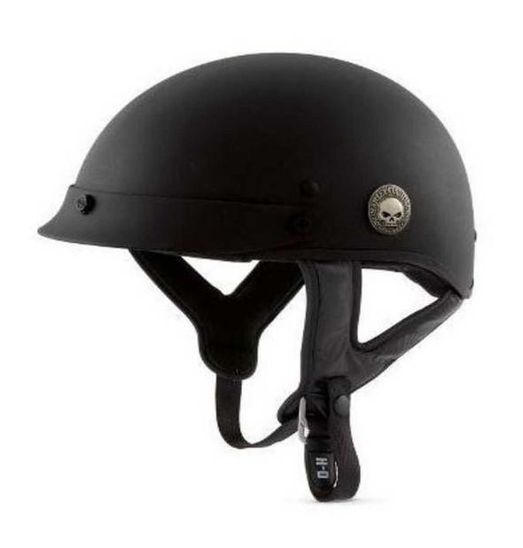 Harley-Davidson Men's Skull Half Helmet 98258-08VM - Wisconsin Harley-Davidson