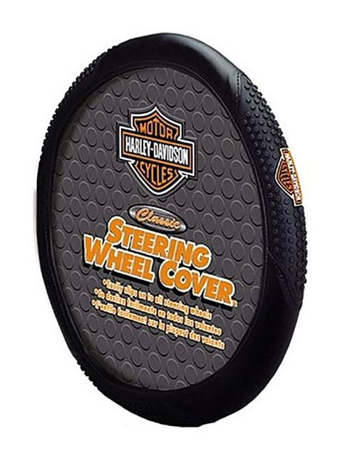 Harley-Davidson Steering Wheel Cover, Bar & Shield Speed Grip, Black 6340 - Wisconsin Harley-Davidson