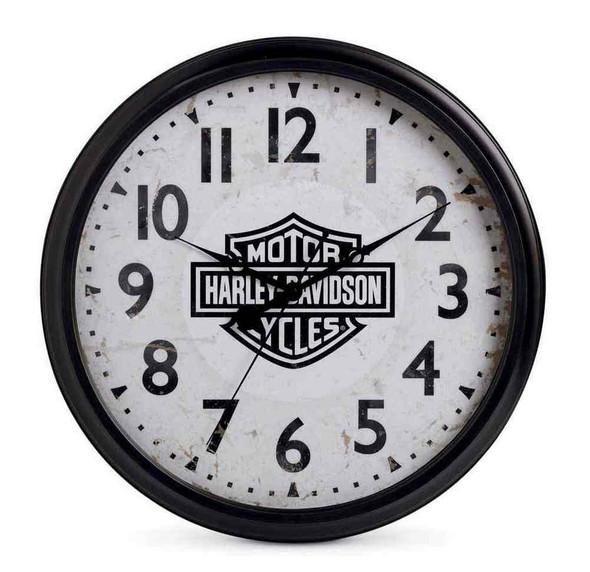 Harley-Davidson 20 in. Silent Bar & Shield Wall Clock, Bar Gameroom. 96827-16V - Wisconsin Harley-Davidson