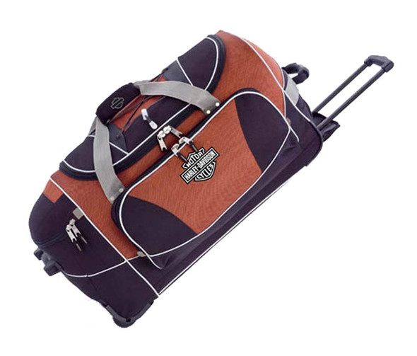Harley-Davidson Hybrid Luggage 29'' Travel Equipment Duffel, Rust/Black 99629-RB - Wisconsin Harley-Davidson