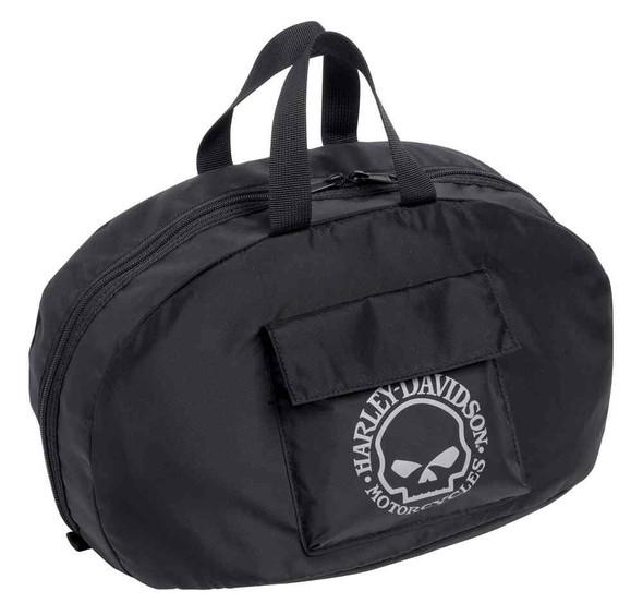 Harley-Davidson Half Helmet Bag Nylon Motorcycle, Black/White. 99427-16VM - Wisconsin Harley-Davidson