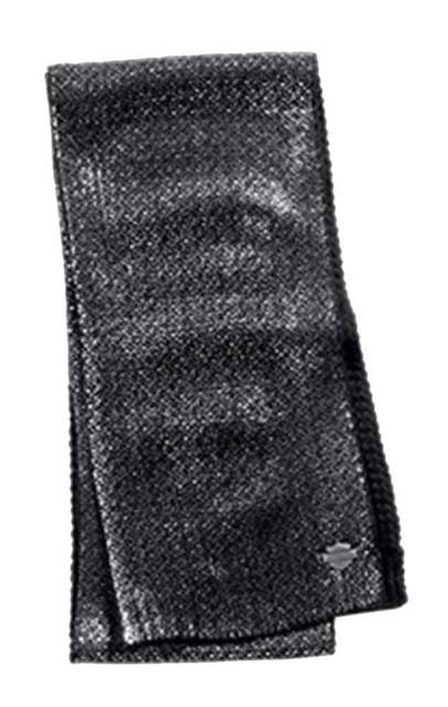 Harley-Davidson Women's Allover Metallic Foil Knit Scarf, Black 97840-16VW - Wisconsin Harley-Davidson