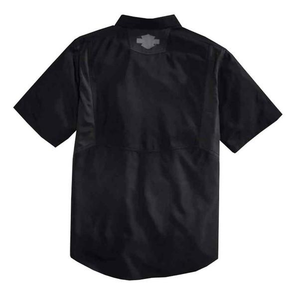 Harley-Davidson Men's Fast-Drying Short Sleeve Woven Shirt, Black 96007-16VM - Wisconsin Harley-Davidson