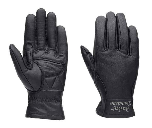 Harley-Davidson Women's Full-Finger Gloves, H-D Dispatch, Black 98360-15VW - Wisconsin Harley-Davidson
