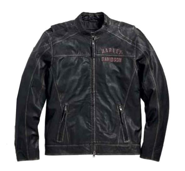 Harley-Davidson Men's Leather Jacket, Long Way #1 Distressed, Black 98089-15VM - Wisconsin Harley-Davidson