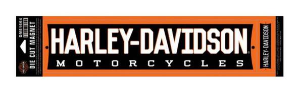 Harley-Davidson Magnet, Die Cut H-D Script, Two Magnets, Orange DM51664 - Wisconsin Harley-Davidson