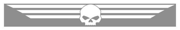 Harley-Davidson White Skull Xpressionz Windshield Decal CG3764 - Wisconsin Harley-Davidson