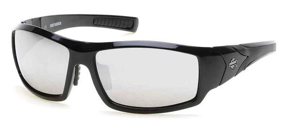 Harley-Davidson Men's Lifestyle Sunglasses Black Frames & Silver Flash Lens - Wisconsin Harley-Davidson
